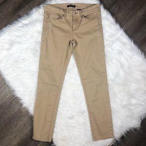 Joe Fresh Tan Slim Fit Distressed Jeans Size 29/8